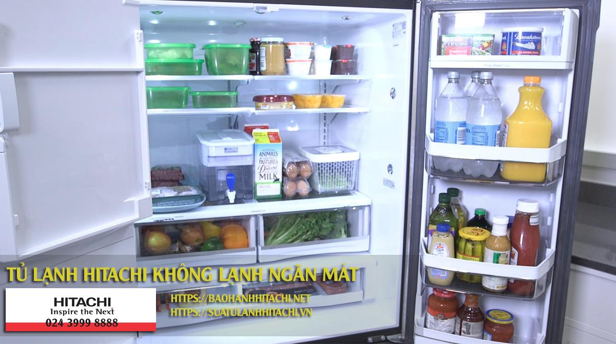 Lỗi tủ lạnh hitachi không lạnh ngăn mát